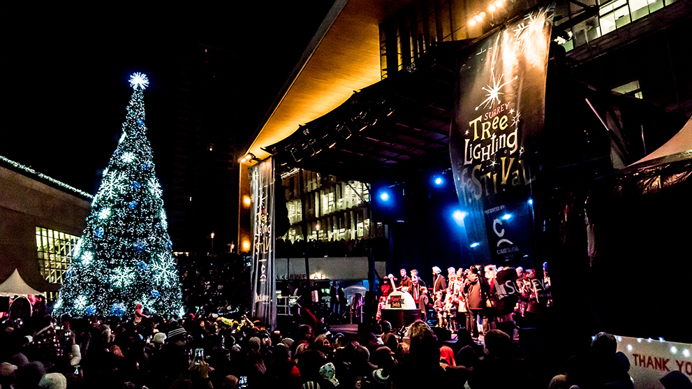 Tree Lighting Festival Downtown Surrey Business